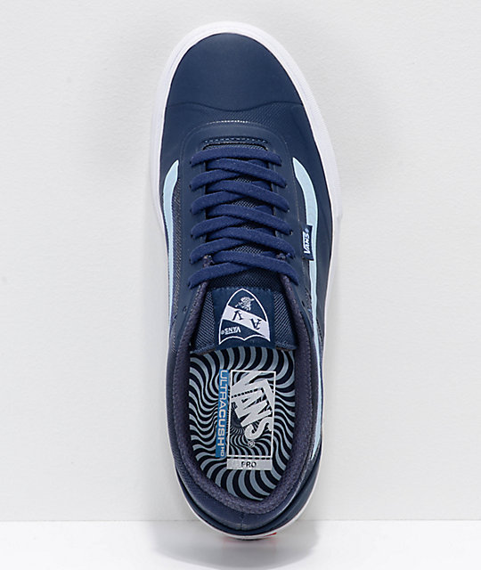 633dc8f4587844 ... Vans x Spitfire AVE Rapidweld Pro Lite Dress Blue   White Skate Shoes  ...