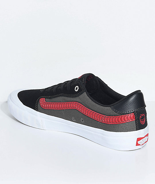 829fe4adc21 ... Vans x Spitfire Style 112 Pro Black   Red Skate Shoes