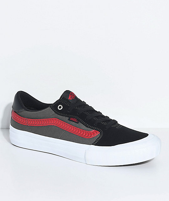 1493a909a341 Vans x Spitfire Style 112 Pro Black   Red Skate Shoes