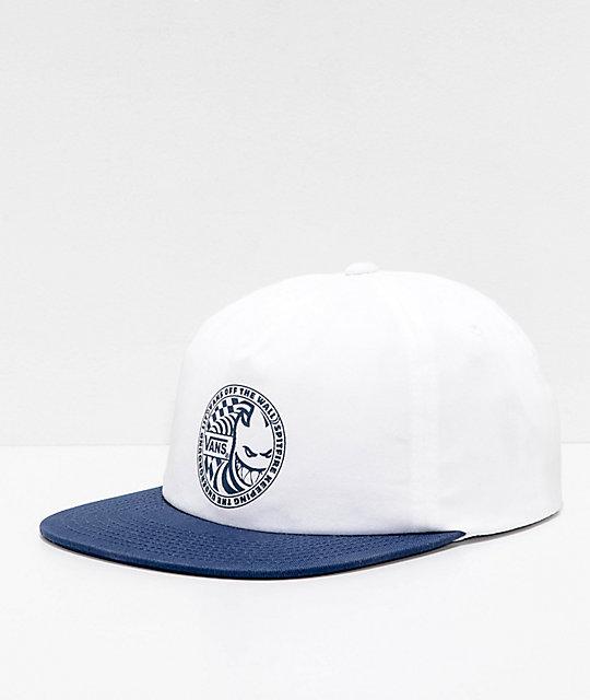 Vans x Spitfire gorra de béisbol blanca y azul ... e2ab1d781b0