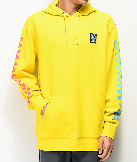 Vans x T&C Surf Designs Checked Yellow Hoodie