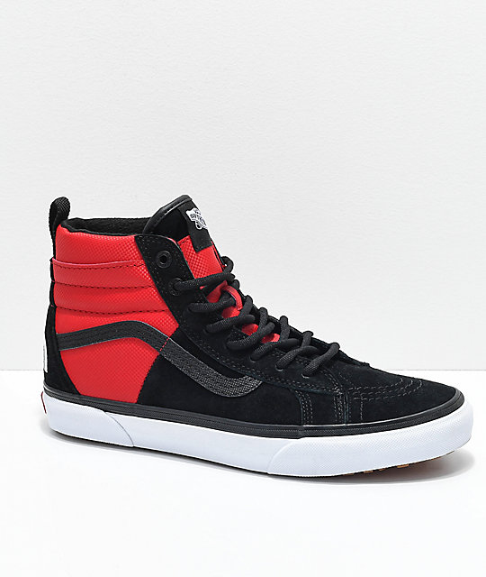 31b4610953 Vans x The North Face Sk8-Hi MTE All Black   Red Shoes