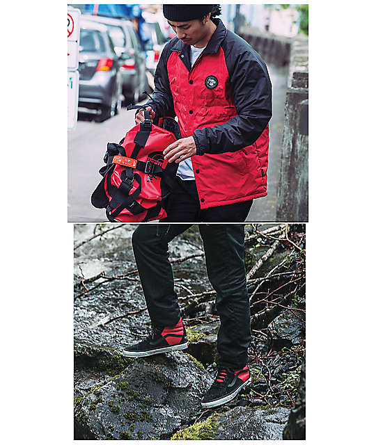 ... Vans x The North Face Torrey MTE Red   Black Coaches Jacket 5edd9ded7