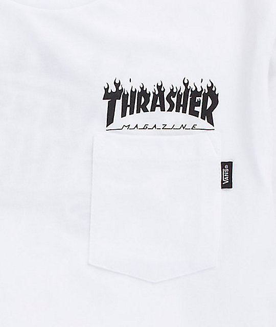2abfd412c8 ... Vans x Thrasher Boys White Pocket T-Shirt