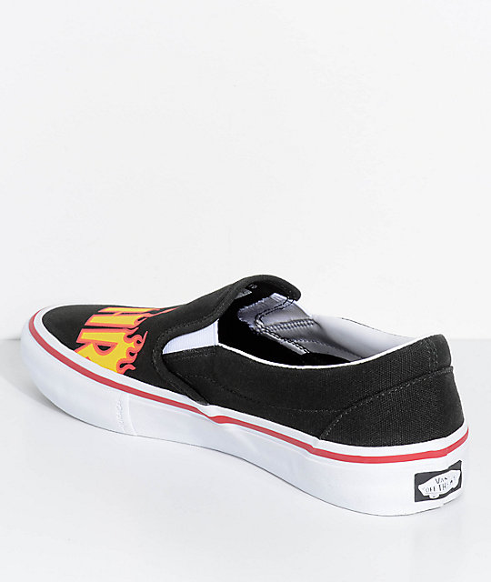 1d73de21cbc ... Vans x Thrasher Slip-On Pro Black Skate Shoes ...