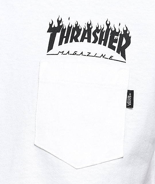010b15b18f ... Vans x Thrasher White Pocket T-Shirt