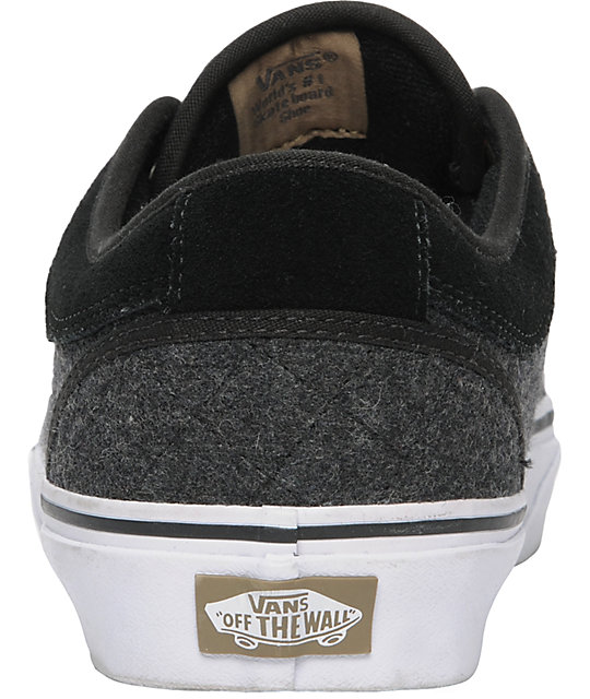 Vans x Zumiez Chukka Low Black & Grey Quilt Skate Shoes