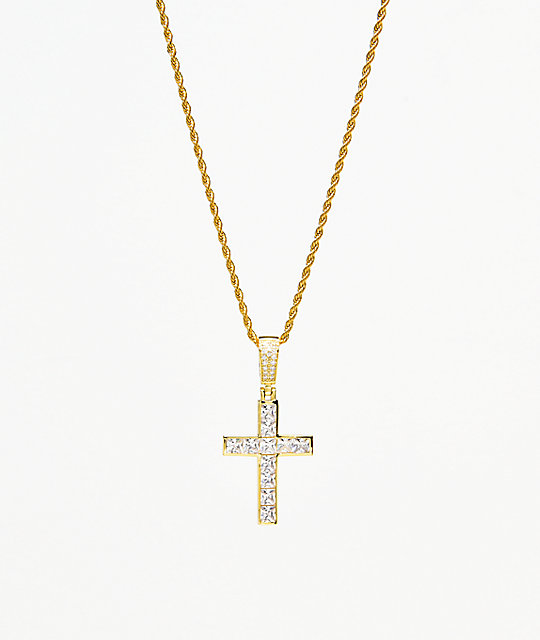 Veritas Invisible Cross Gold Pendant Necklace