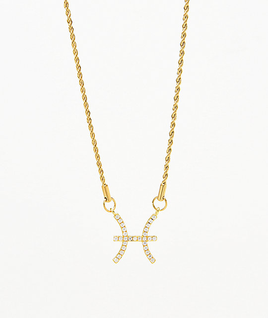 Vesso Pisces Gold Women's Necklace