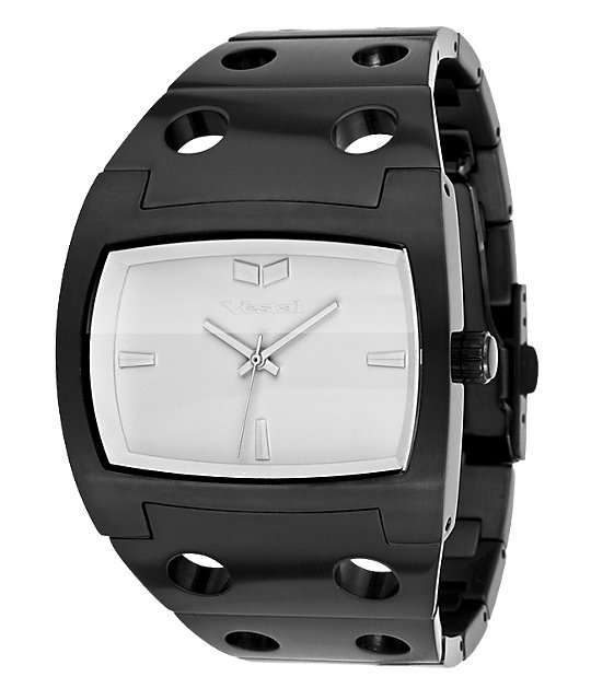 Vestal Destroyer Black & White Matte Watch