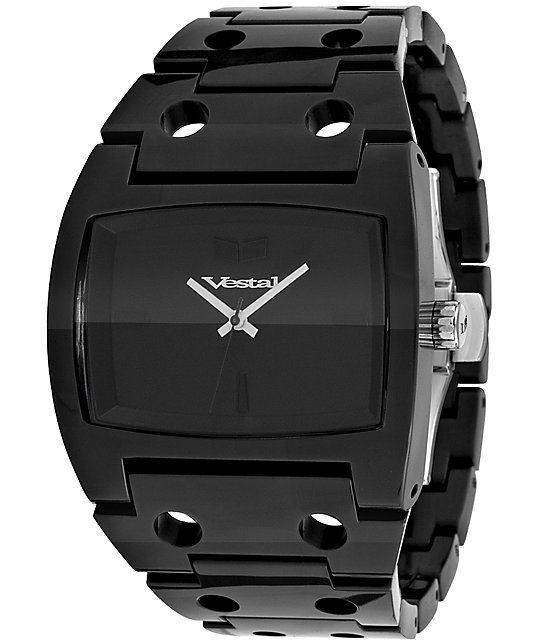 Vestal Destroyer Plastic All Black Analog Watch