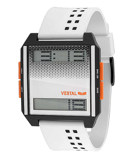 Vestal Digichord White Digital Watch