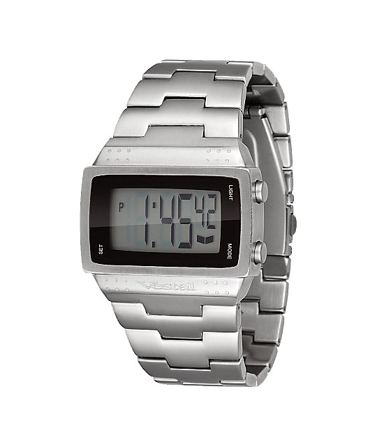 Vestal Dolby Brushed Metal Mens Digital Watch