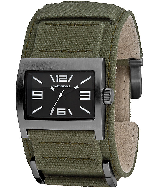 Vestal Legionnaire Army, Gunmetal, & Black Analog Watch