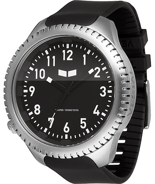 Vestal Utilitarian Black Analog Watch