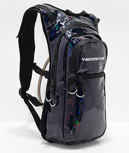 Vibedration VIP Holla-Graphic Black 2L Hydration Pack