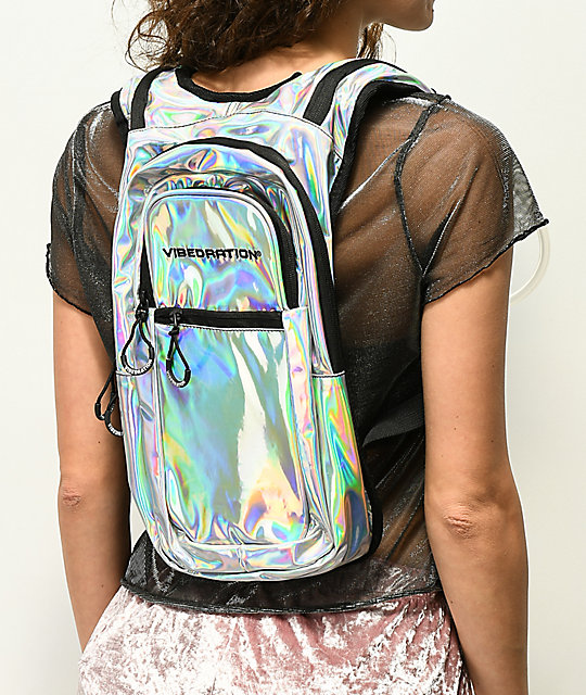 Vibedration VIP Holla-Graphic Silver 2L Hydration Pack