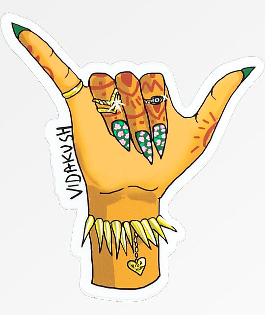 VidaKush Hang Loose Sticker