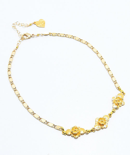 VidaKush Ring Around The Rosy Gold Choker