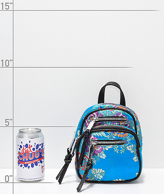 Violet Ray Kimono Blue Convertible Mini Backpack