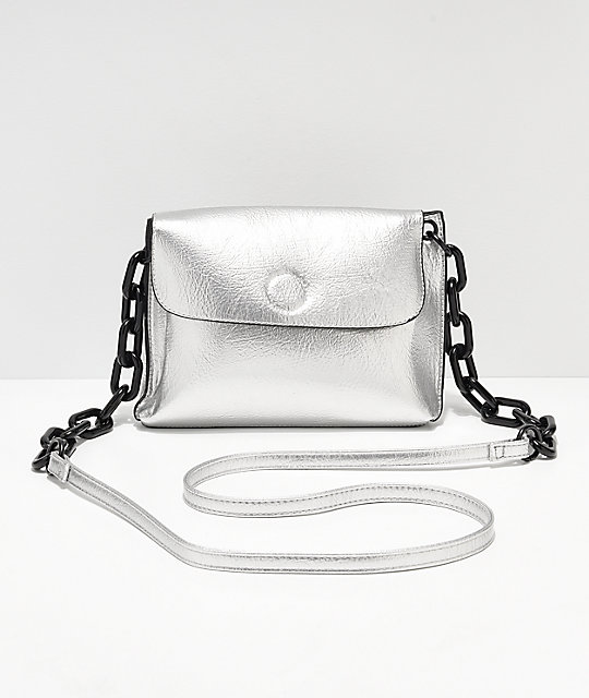 Violet Ray Silver Crossbody Purse