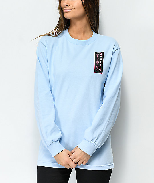 Vitriol Fantasy Light Blue Long Sleeve T-Shirt