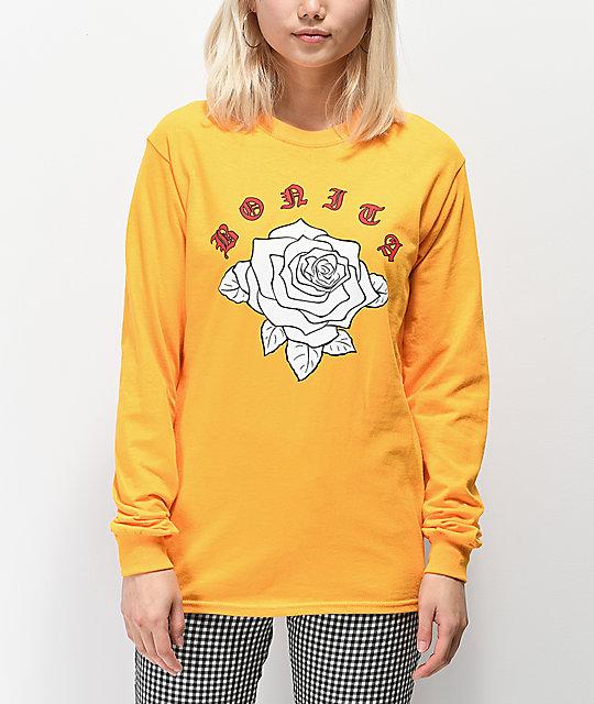 amarilla de Bonita camiseta La Rosa Bonita larga Viva manga xqRpXq