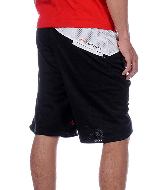 Volcom  Black Reversible Basketball Shorts