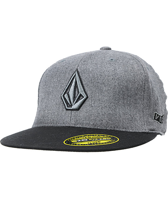 Volcom 2Stone Black & Grey 210 Fitted Hat