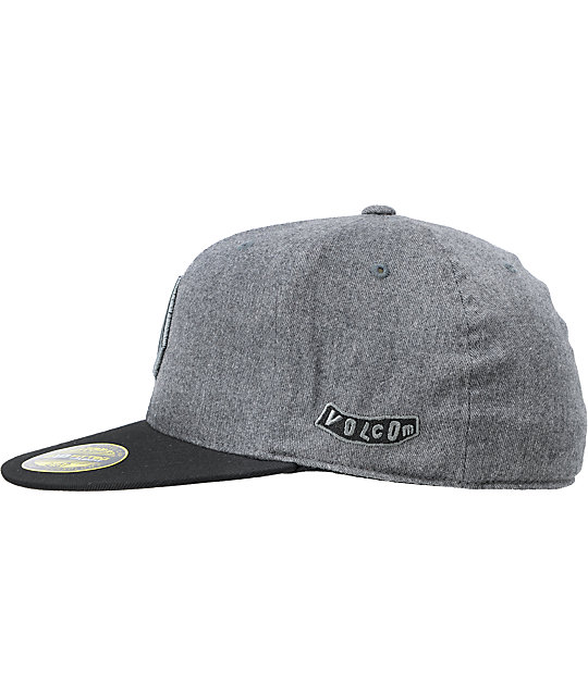d27f08f23a2e8 wholesale volcom 2stone black grey 210 fitted hat 405f8 e2013