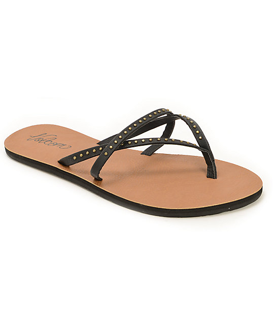 Volcom All Day Long Black Sandals