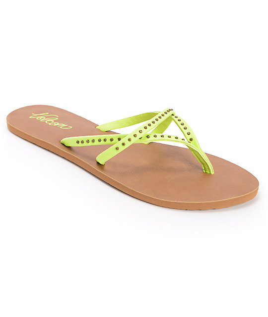 Volcom All Day Long Lime Sandals ...