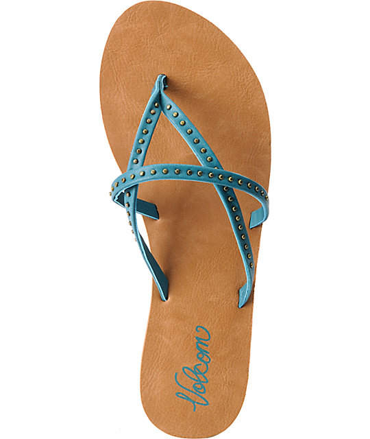 Volcom All Day Long Turquoise Creedler Sandals