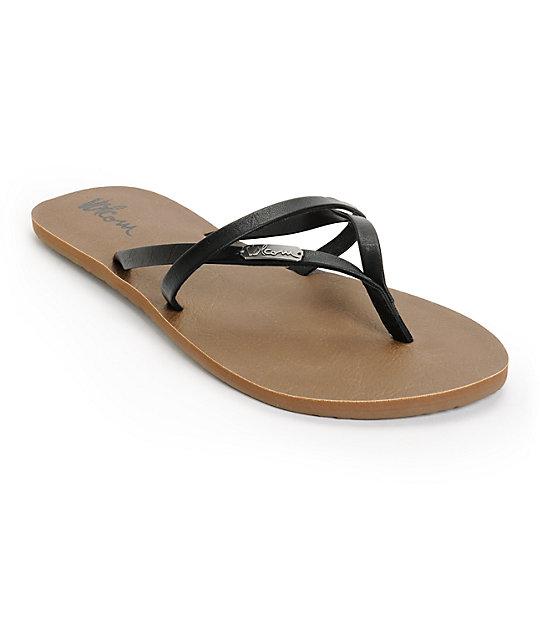 New Brown Volcom All Night Long Sandal