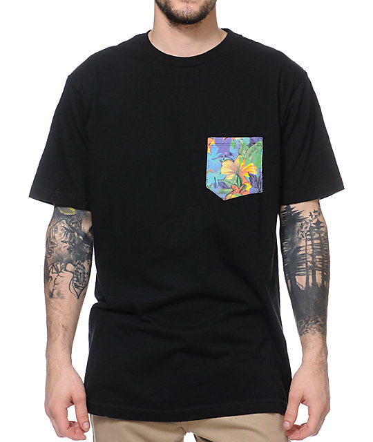 Volcom Aloha Black Pocket T-Shirt