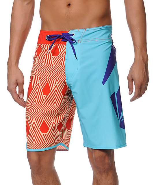 Volcom Annihilator What Red & Blue 20 Board Shorts