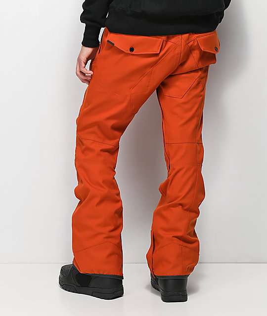 Volcom Articulated Burnt Orange 15K Snowboard Pants