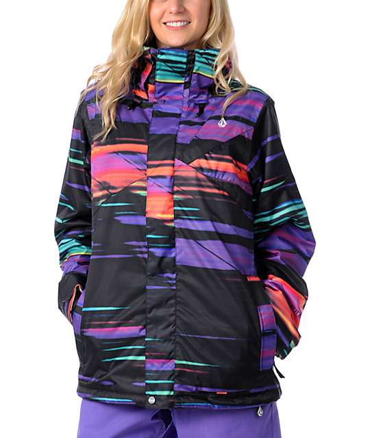 Volcom Ayers Slash Stripe Snowboard Jacket