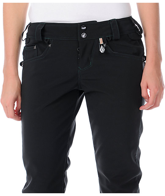Volcom Battle Stretch 10K Black Snowboard Pants
