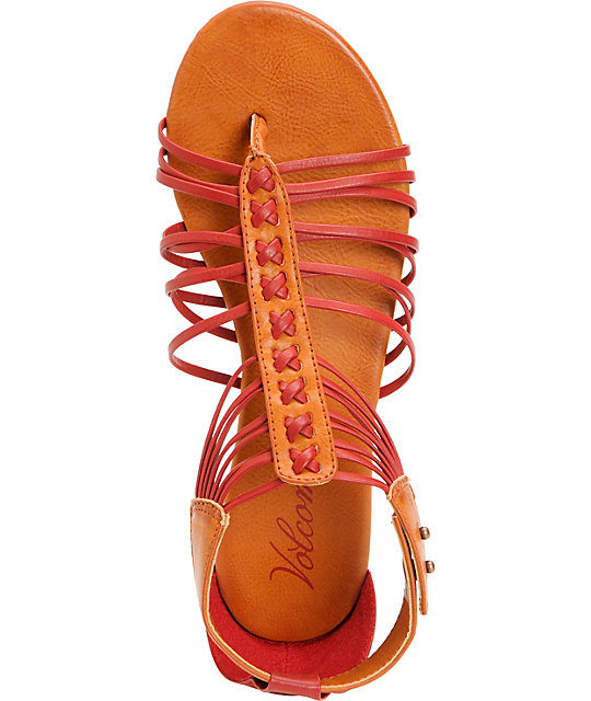 Volcom Be Nice Red Sandals