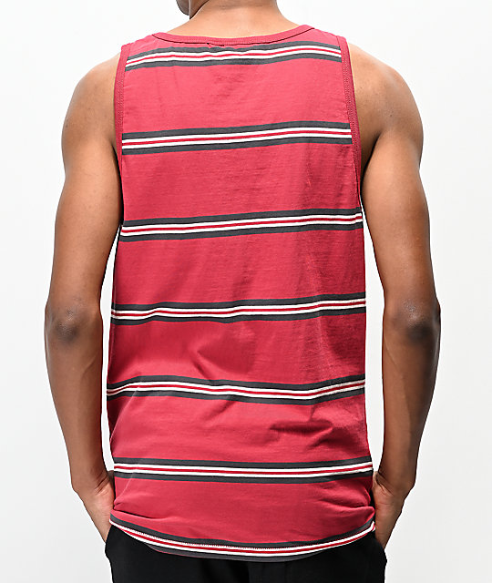 Volcom Beauville Red Stripe Tank Top