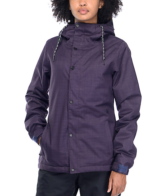 Volcom Bolt 8K Deep Purple Insulated Snow Jacket  cafc4f7a3