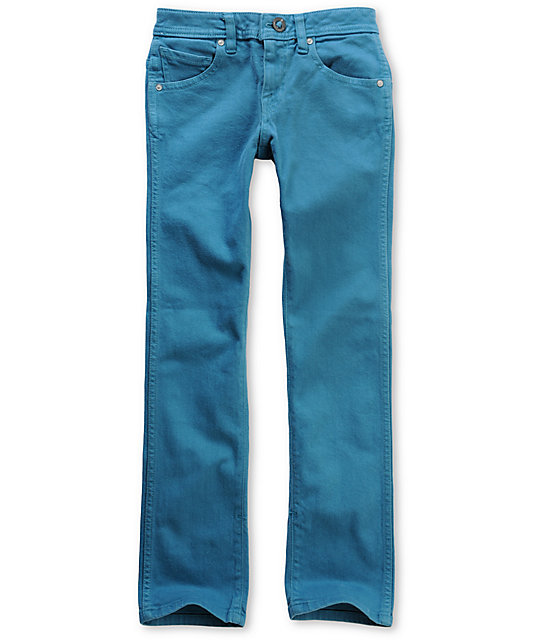 Volcom Boys 2x4 Bright Blue Jeans