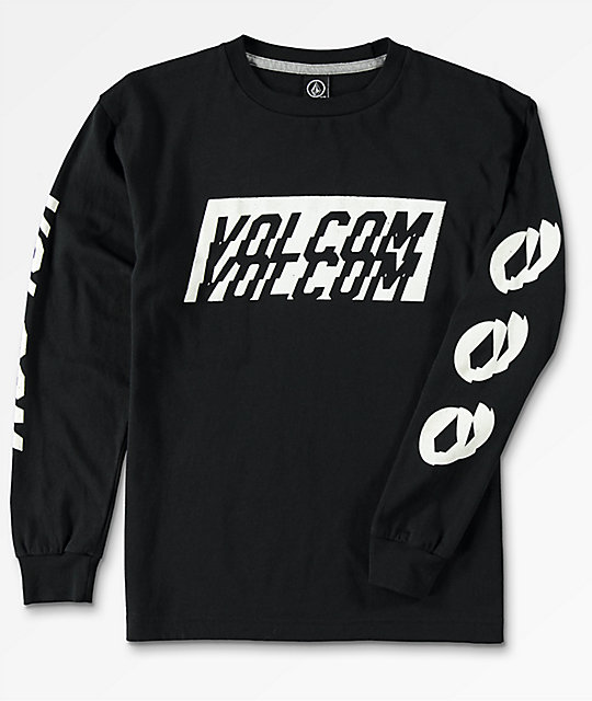 d66a15df Volcom Boys Chopper Black Long Sleeve T-Shirt | Zumiez