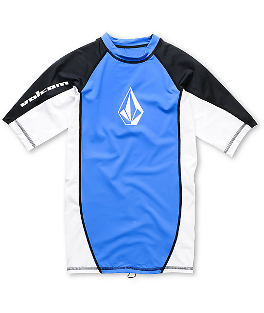 Volcom Boys Colorblock Blue Rash Guard