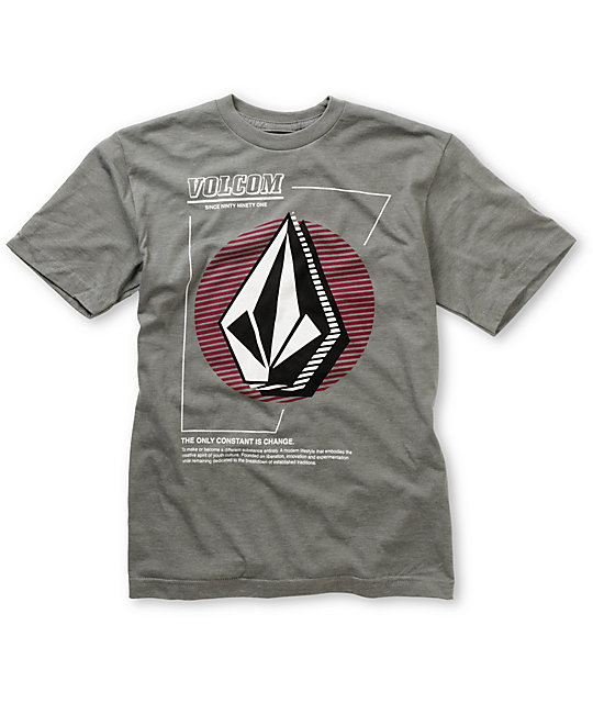 Volcom Boys Dangler Grey T-Shirt