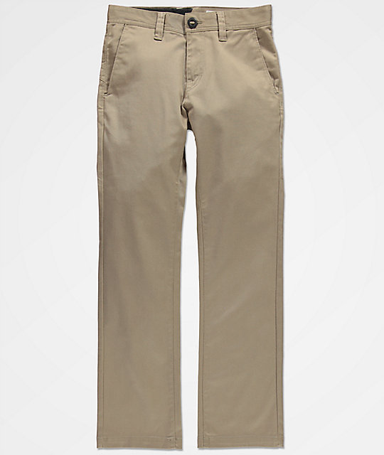 Volcom Boys Frickin Modern Stretch Khaki Chino Pants