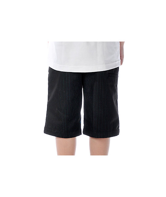 Volcom Boys Frickin Stripe Black Shorts