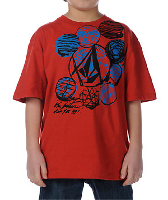 Volcom Boys Ink Circle Red T-Shirt