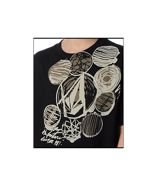 Volcom Boys Ink Circles Black T-Shirt